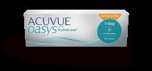 ACUVUE OASYS® 1-DAY med HydraLuxe ™ TEKNOLOGI til BYGNINGSFEJL - daglige kontaktlinser