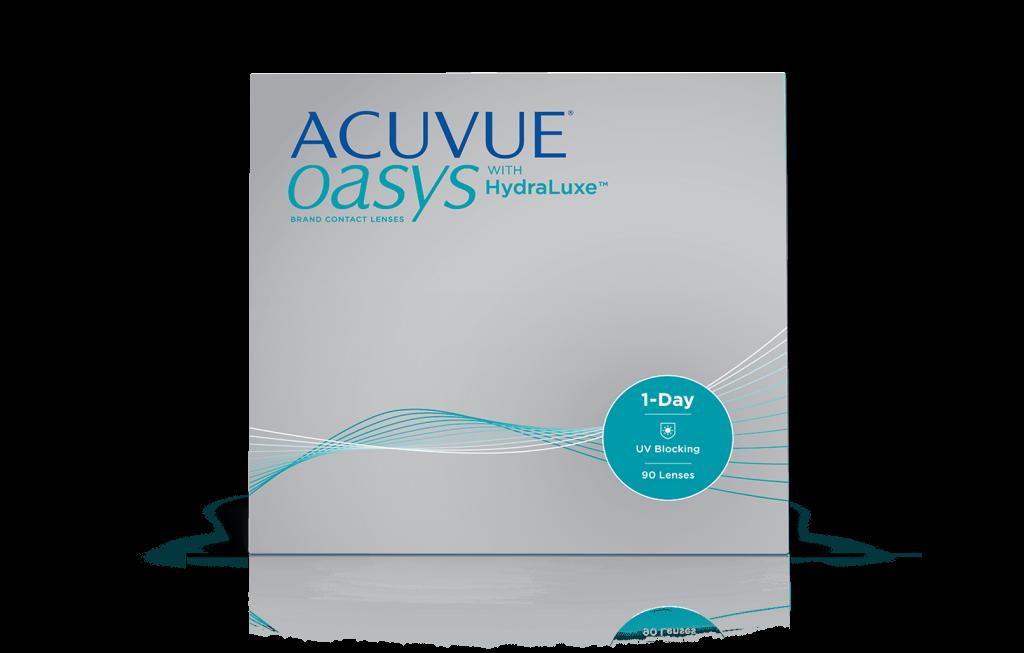 ACUVUE® OASYS® 1-Day medHydraLuxe™ TEKNOLOGI –  daglige kontaktlinser til nærsynethed eller langsynethed
