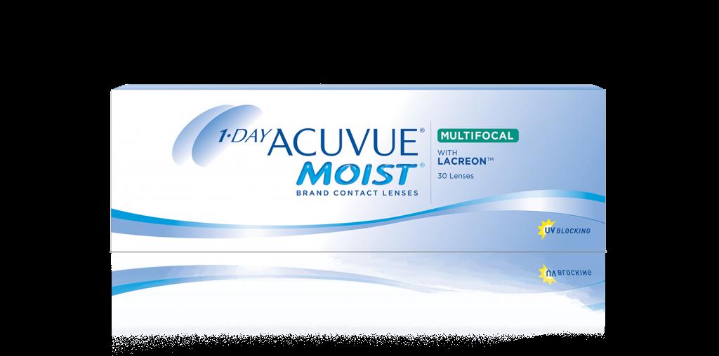 1-DAY ACUVUE® MOIST  MULTIFOKALE –  daglige kontaktlinser til langsynethed