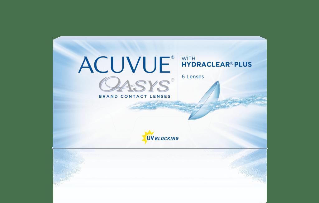 ACUVUE OASYS® med HYDRACLEAR® PLUS Teknologi -   to ugers kontaktlinser til  nærsynethed eller langsynethed